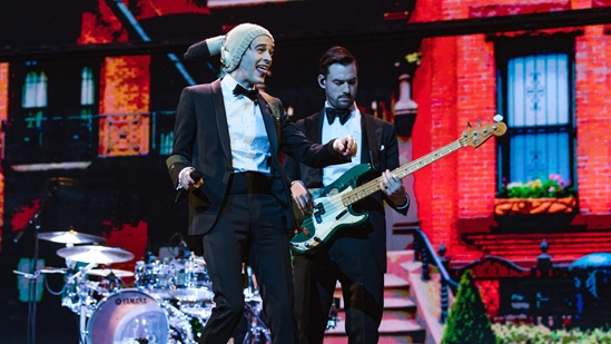 The 1975 performing at The BRITs 2019