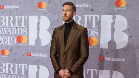 Calvin Harris on The BRITs 2019 Red Carpet