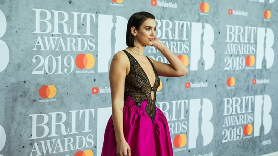 Dua Lipa on The BRITs 2019 Red Carpet