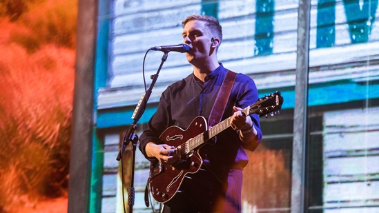 George Ezra performing at The BRITs 2019