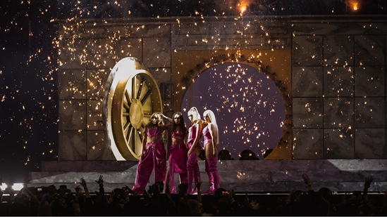 Little Mix performing at The BRITs 2019