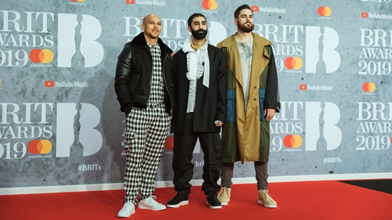 Rudimental on The BRITs 2019 Red Carpet
