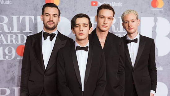 The 1975 on The BRITs 2019 Red Carpet
