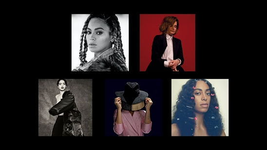 Beyonce, Christine And The Queens, Rihanna, Sia and Solange are nominated for International Female