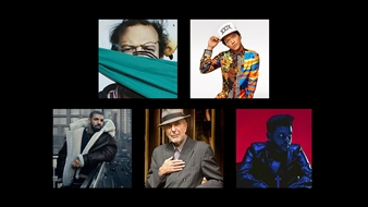 Bon Iver, Bruno Mars, Drake, Leonard Cohen and The Weeknd are nominated for International Male