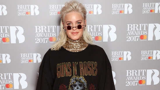Anne-Marie on The BRITs 2017 Nominations Show Red Carpet.