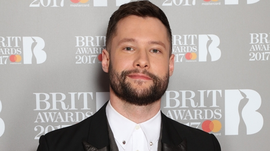 Calum Scott on The BRITs 2017 Nominations Show Red Carpet.