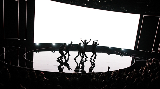 Christine and the Queens on stage at The BRITs 2017 Nominations Show