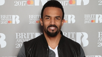 Craig David on The BRITs 2017 Nominations Show Red Carpet.