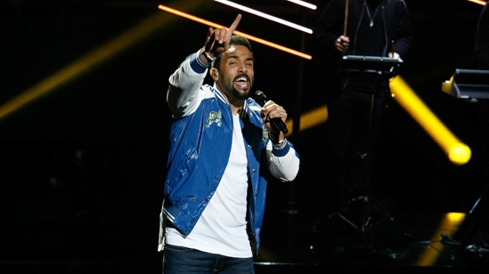 Craig David on stage at The BRITs 2017 Nominations Show