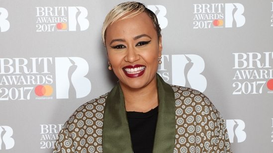 Emeli Sandé Jonas Blue on The BRITs 2017 Nominations Show Red Carpet.