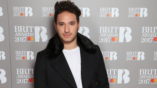Jonas Blue on The BRITs 2017 Nominations Show Red Carpet.
