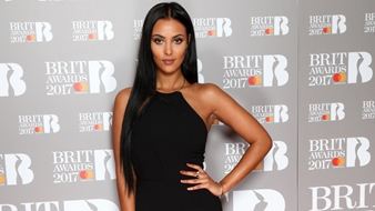 Maya Jama on The BRITs 2017 Nominations Show Red Carpet.