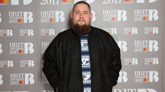 Rag'n'Bone Man on The BRITs 2017 Nominations Show Red Carpet.