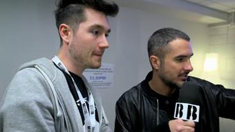 Zane backstage with Bastille