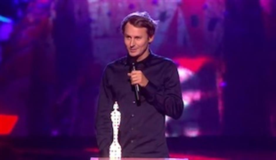Ben Howard accepts award for British Breakthrough