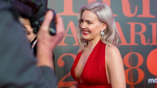 Anne Marie on The BRITs 2018 Red Carpet