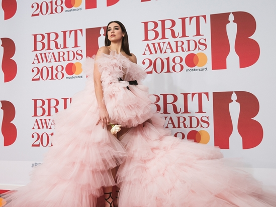 Dua Lipa on The BRITs 2018 Red Carpet