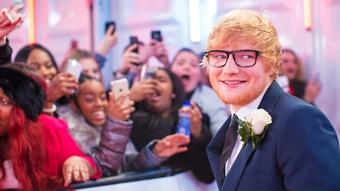 Ed Sheeran on The BRITs 2018 Red Carpet