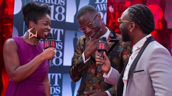 Clara Amfo chats to J Hus on The BRITs 2018 Red Carpet