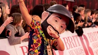 Jax J on The BRITs 2018 Red Carpet