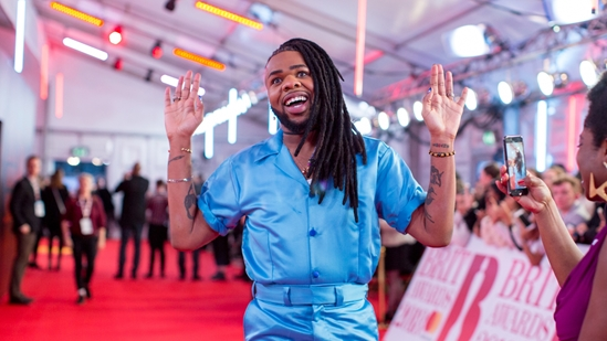 MNEK on The BRITs 2018 Red Carpet