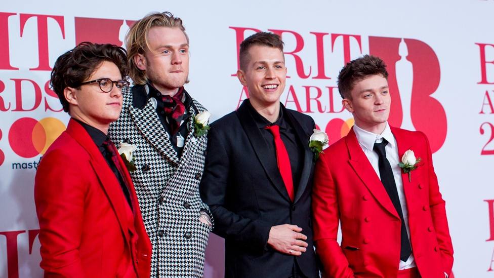 Vamps on The BRITs 2018 Red Carpet
