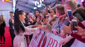 Mabel on The BRITs 2018 Red Carpet