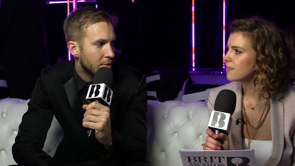 Georgia LA backstage with Calvin Harris