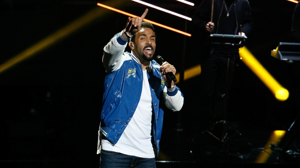 Craig David Performing at The BRITs Nominations Show 2017