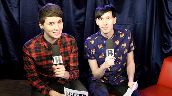 Dan & Phil backstage at 'The BRITs Are Coming'