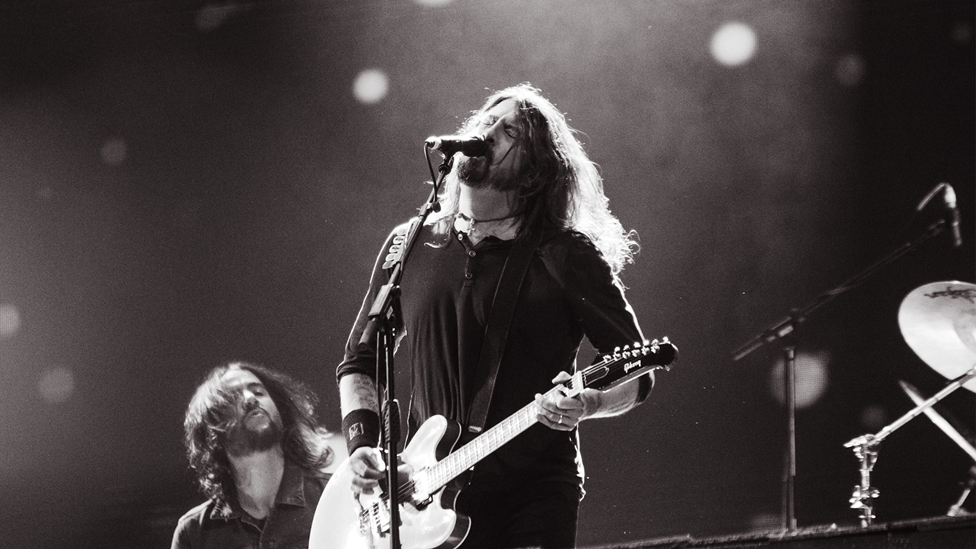 Foo Fighters on stage at The BRITs 2018