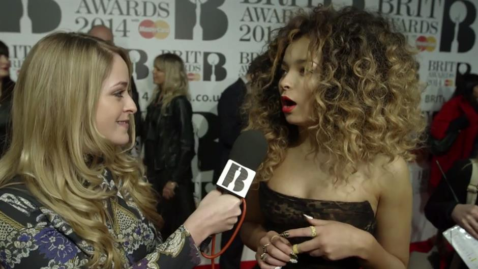 Fleur with Ella Eyre on the Red Carpet