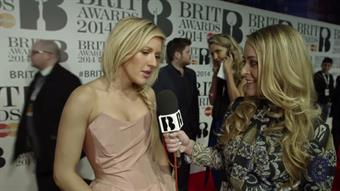 Fleur with Ellie Goulding on the Red Carpet