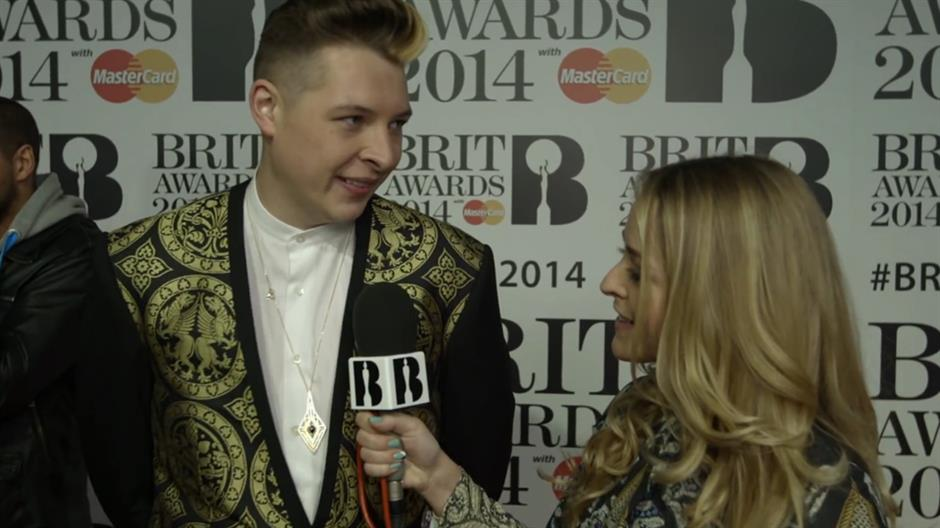 Fleur with John Newman on the Red Carpet