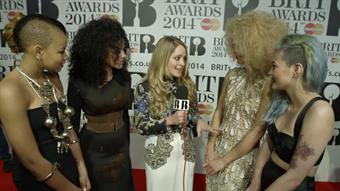 Fleur with Neon Jungle on the Red Carpet