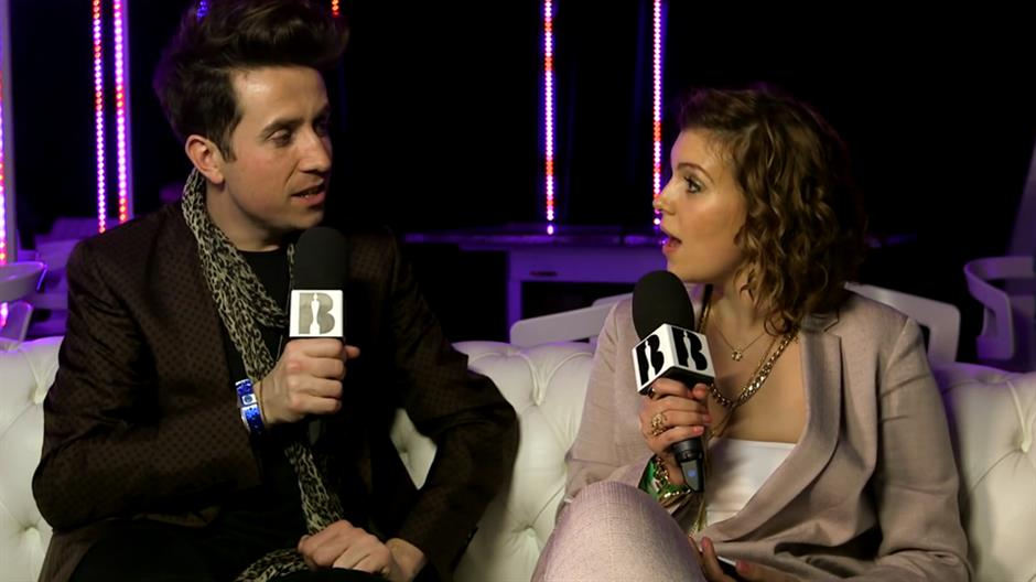 Georgia LA backstage with Nick Grimshaw