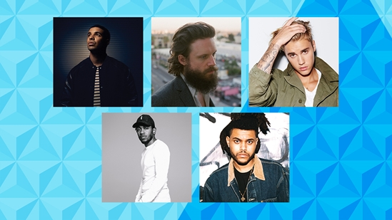 Drake, Father John Misty, Justin Bieber, Kendrick Lamar and The Weeknd are nominated for International Male Solo Artist at the BRITs 2016