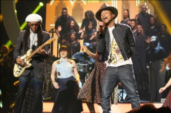 Pharrell Williams & Nile Rodgers | BRITs 2014