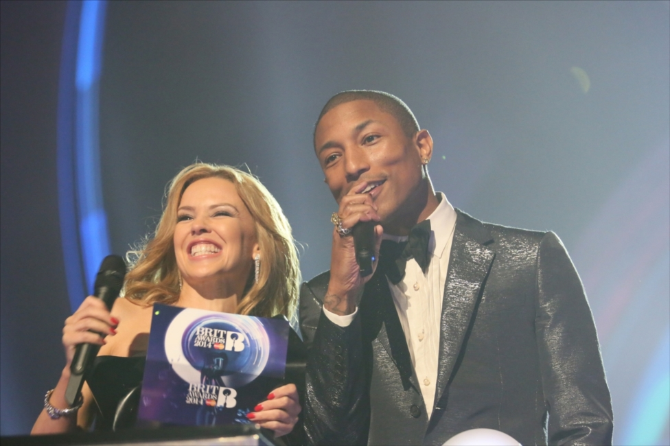 Pharrell Williams & Kylie Minogue | BRITs 2014