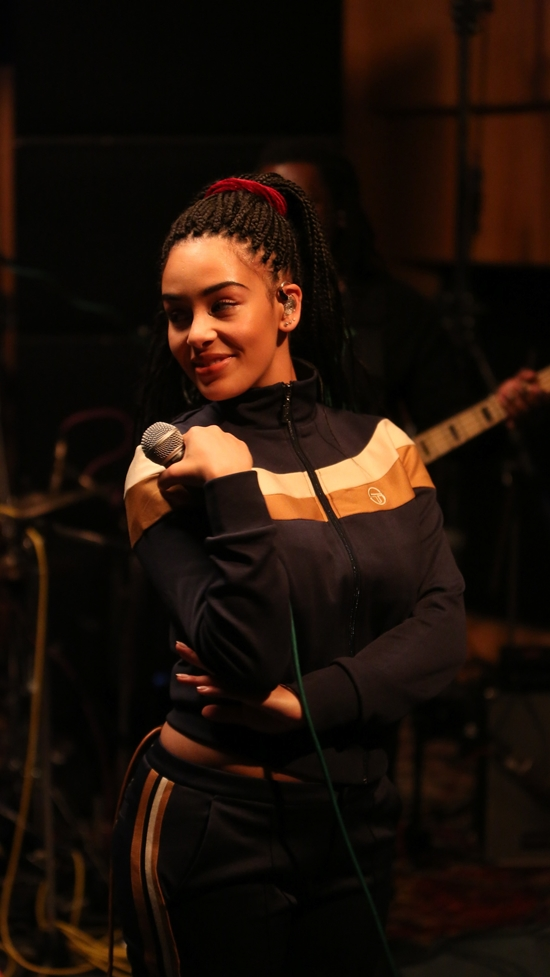 Jorja Smith performing 'Teenage Fantasy' live at Abbey Road Studios