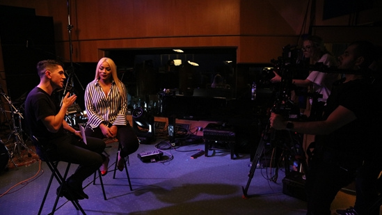 Stefflon Don chats to Luke Franks at Abbey Road Studios