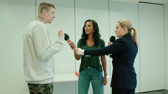 Professor Green, Maya Jama and Amelia Dimoldenberg