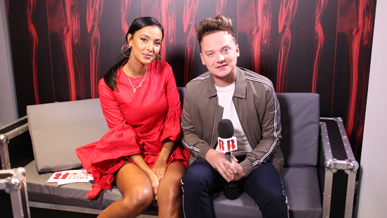 Conor Maynard joins Maya Jama backstage at The BRITs 2018 Nominations Launch