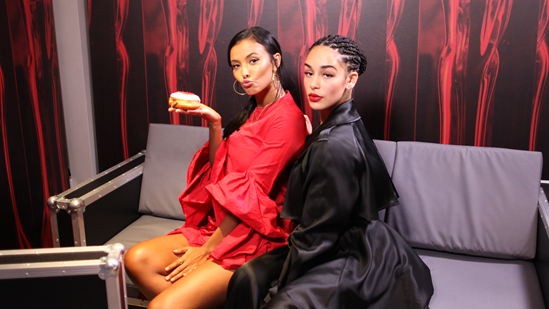 Jorja Smith joins Maya Jama backstage at The BRITs 2018 Nominations Launch