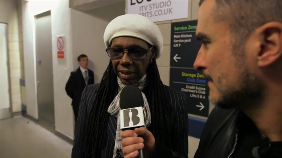 Zane with Nile Rodgers