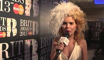 On The Red Carpet: Paloma Faith Presents at BRITS 2013 Launch Event
