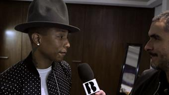 Zane backstage with Pharrell Part I