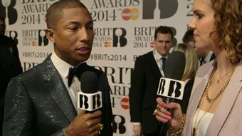 Pharrell on the Red Carpet