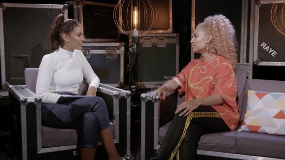 Maya Jama interviews RAYE